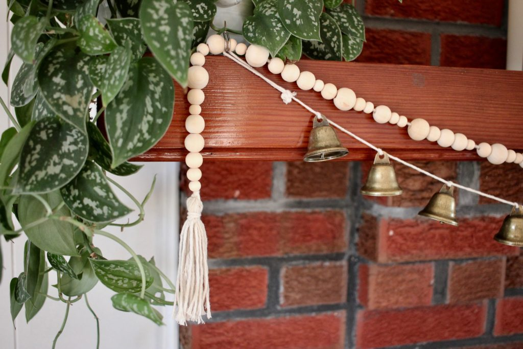 Diy Bell And Bead Christmas Garland This House Of Dreams